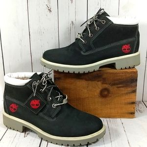 Timberland Women's Nellie Black with Red Boots 9.5